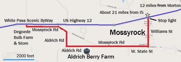 Map for Aldrich Berry Farm and Nursery